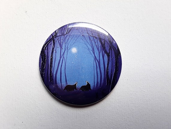 The Enchanted Glade Pocket Mirror featuring my original art.