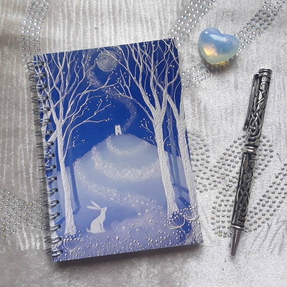 Mystical Tor Notebook - Glastonbury Tor - Pagan - Wiccan - Journal