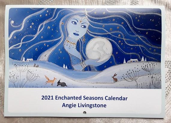2021 Calendar - Art Calendar - Mystical - Pagan - Goddess - Wiccan