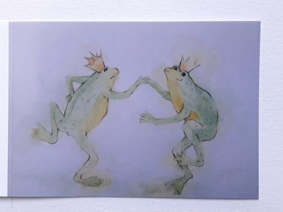 Dancing Frogs - Frog Card - Frog Card