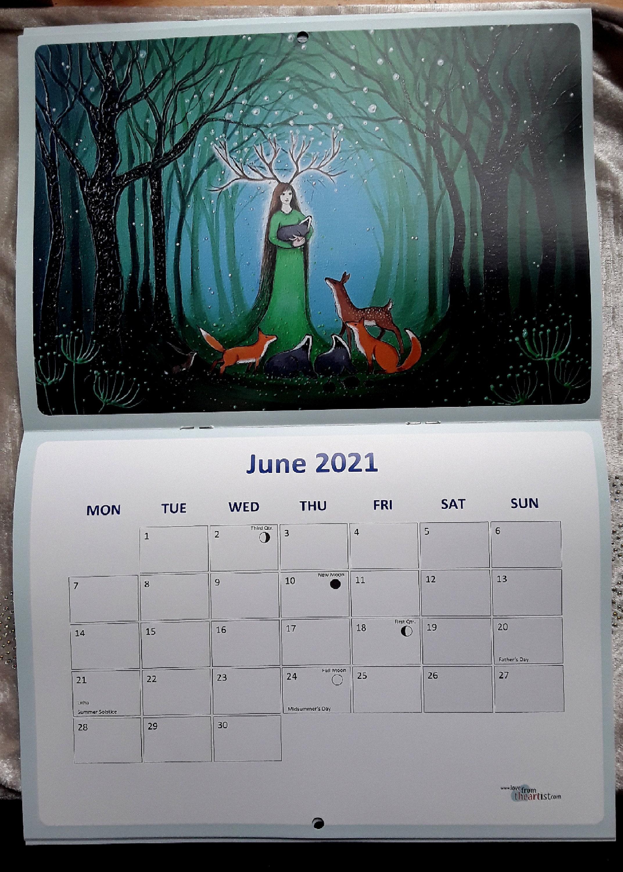 2021 Calendar - Art Calendar - Mystical - Pagan - Goddess ...