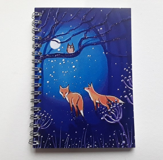 Fox Notebook - Fox Journal - Mystical - Pagan - Wiccan - Writers Gift