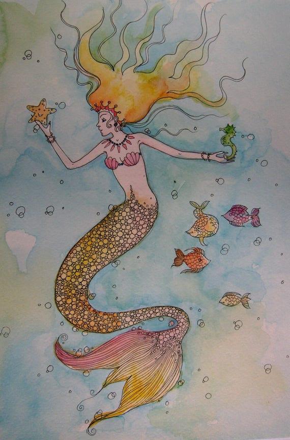 Mermaid High Quality A4 Print