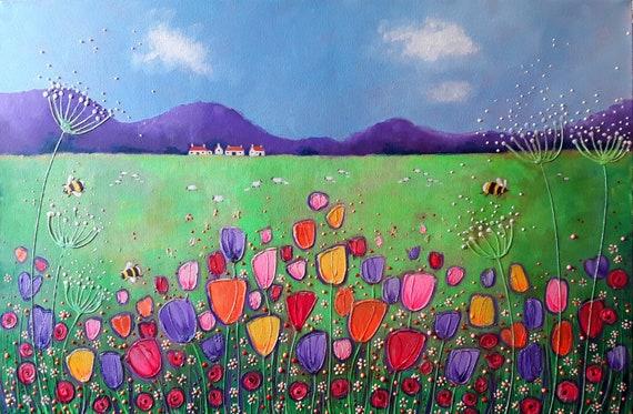 Tulip Fever - Large Art print - Spring Art - Tulip Art - Quality Print!