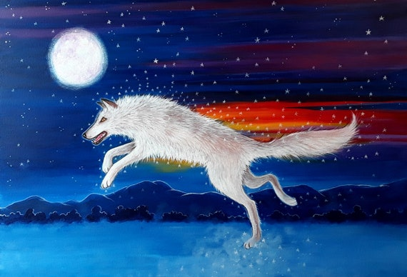 Spirit Wolf - Very high quality A4 art print
