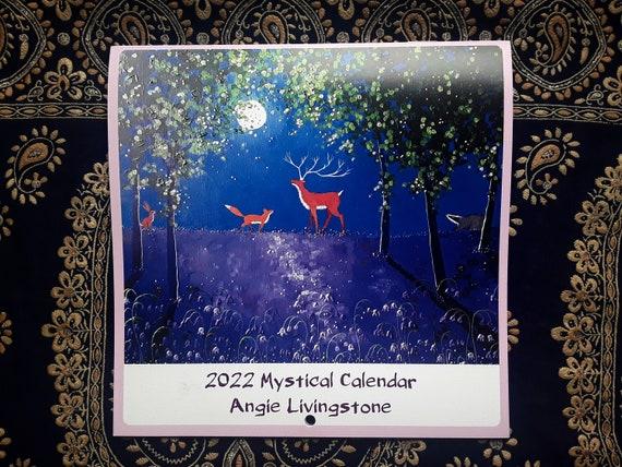 2022 Calendar - Art Calendar - Mystical Calendar - Pagan - Goddess - Wiccan