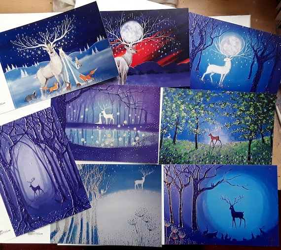 Mystical Stag Cards - Stag Cards - Pagan - Wiccan - Spiritual