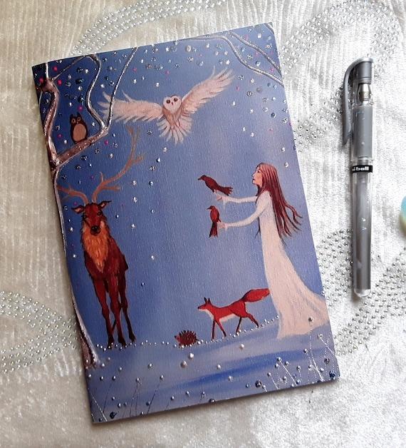 Mystical Notebook, Goddess Notebook, Arty Gift, Stocking Filler, Writers Gift