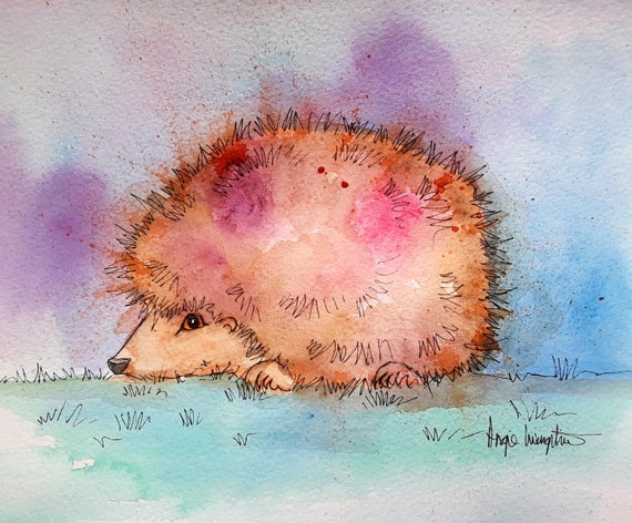 Hedgehog - Very high quality art print