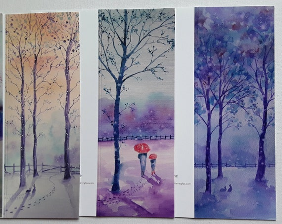 Winter Cards - Winter Watercolour - Snowy Winter Cards - Art Cards - Blank Cards