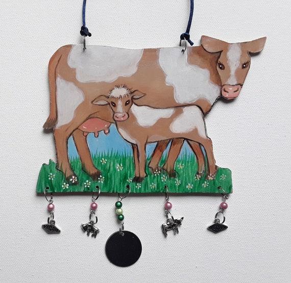Wall Art - Cow and Calf - Vegan Art - Cow Art - Farm Art