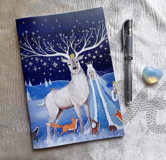 Mystical Notebook - Goddess Notebook - Journal - Arty Gift - Wiccan Notebook
