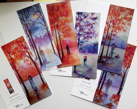 Romantic Couple Cards - Autumn Cards - Winter Cards - Couples - Blank Cards