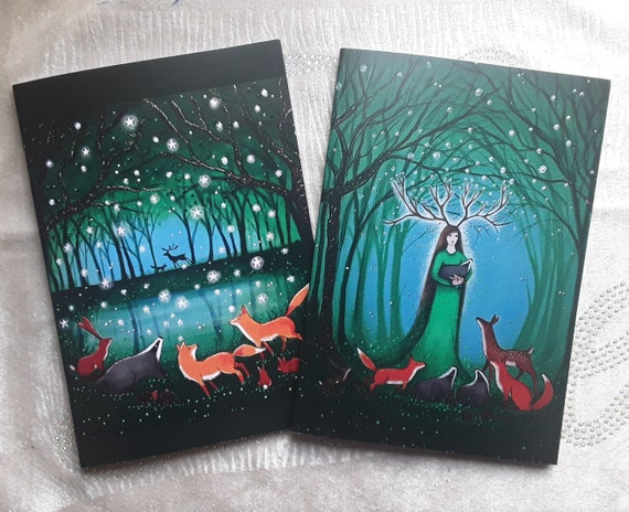 Mystical Forest Notebooks - Pagan - Wiccan - Goddess - Journal