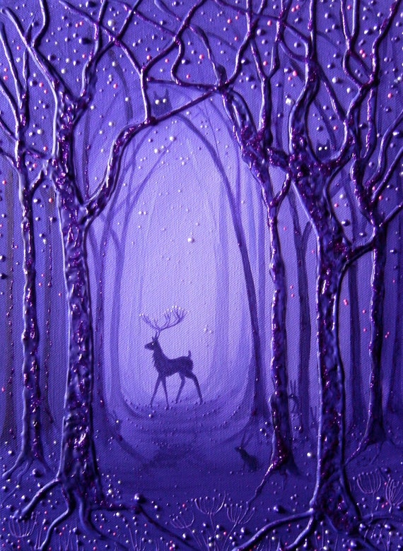Mystical Stag Print - Enchanted Forest - Stag Art - Pagan - Wiccan
