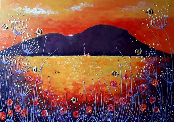 Bumblebee Sunset High Quality A4 Photo Art Print