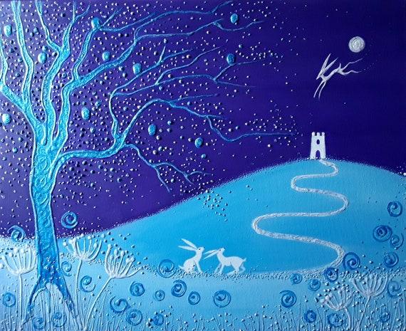 Enchanted Winter Tor - High quality A4 art print