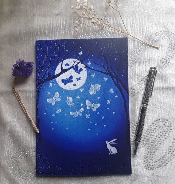 White Hare Notebook- Mystical notebook- Arty Gifts  - Mystical journals