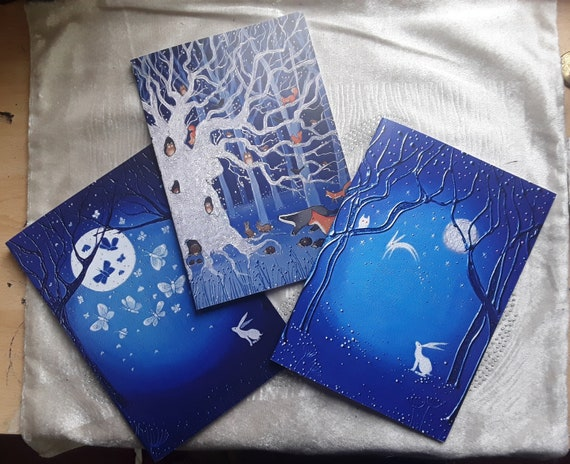 Mystical White Hare Notebooks - Arty Gifts- Set of Notebooks