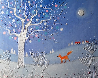 Winter Fox High Quality A4 Print