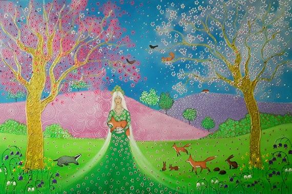 Goddess of Spring - Goddess Print - Pagan - Wiccan - Mystical