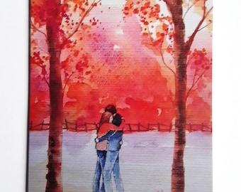 Autumn Kiss - High Quality Fine Art Card