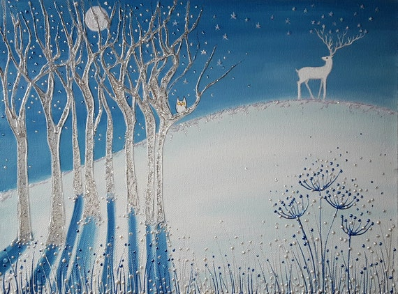 The Winter Stag very high quality print from my original painting