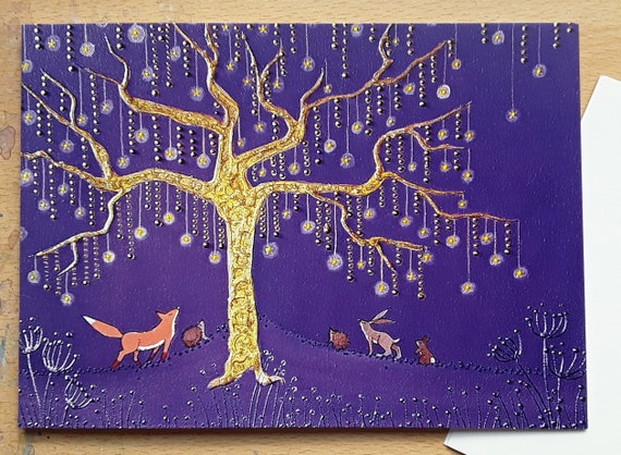 Mystical Forest Cards - Golden Star Tree - Pagan - Wiccan - Spiritual - Mystical