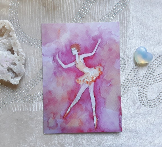 Ballerina Greeting Card - Ballerina art - Ballet Art