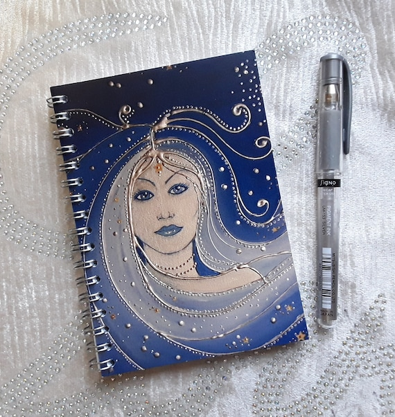 Goddess Notebook - Wiccan - Pagan - Mystical Journal - Spellbook - Arty Gift - Stocking Filler - A5