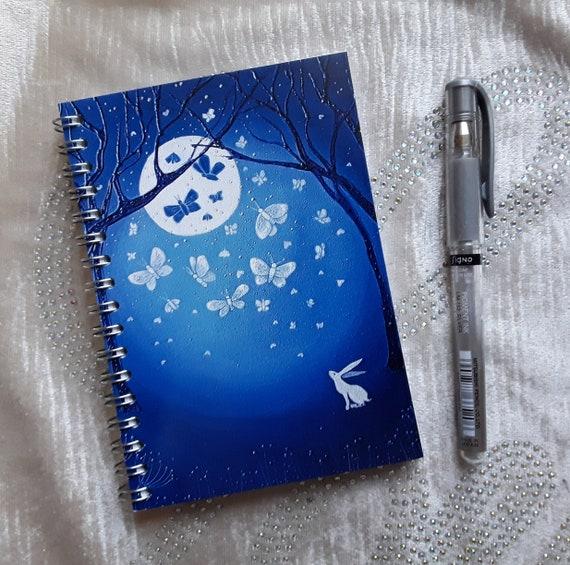 Mystical Notebook - White Hare Notebook - Moon Moths Notebook - Journal