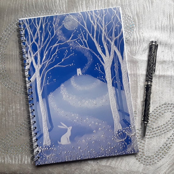 Mystical Tor Notebook - A5/C5 Notebook - Journal - Writers Gift - Arty Gift