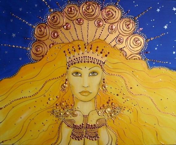 Goddess of the Sun - High Quality print - Art print - Sun Goddess
