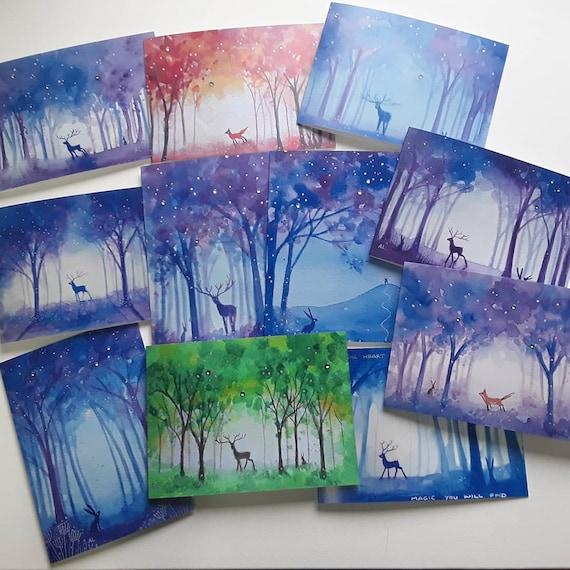 Mystical Forest Cards - Greenwood - Pagan - Wiccan - Spiritual - Mystical