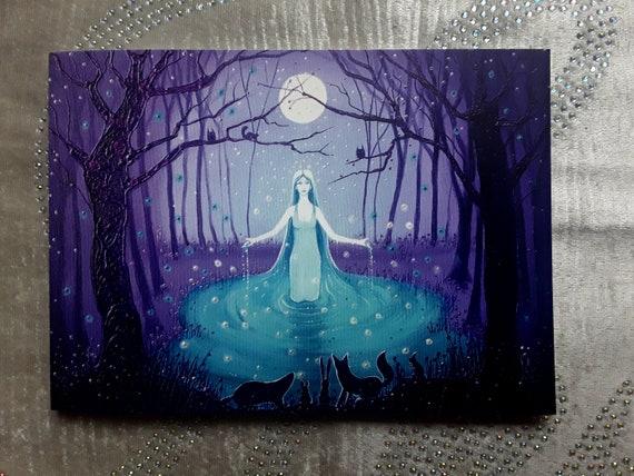 Goddess card - Moon Goddess - Pagan - Wiccan - Goddess Art