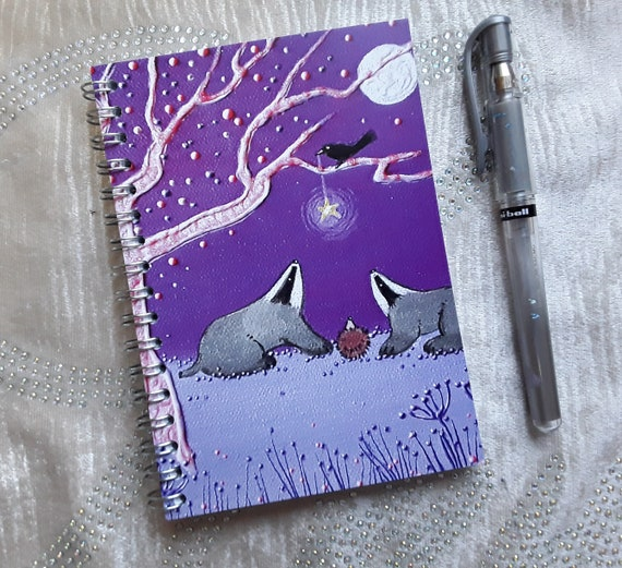 Badger Notebook - Badger Journal - Badger Lover Gift - Stocking Filler