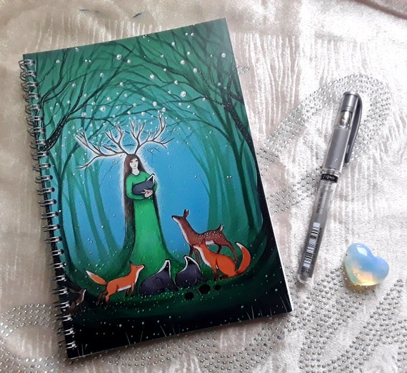 Forest Goddess Notebook - Stocking Filler - Arty Notebook - Notebook - Arty Gift - A5 Jotter