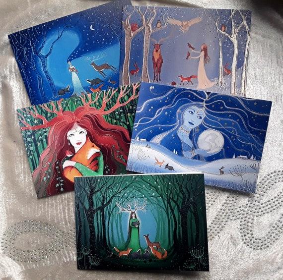 Goddess Cards - Pagan - Wiccan Cards - Mystical Cards - Spiritual Cards