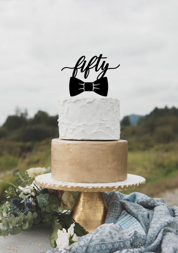Astonishing Birthday Cake Topper For Men 50Th Birthday Cake Topper Happy Etsy Personalised Birthday Cards Arneslily Jamesorg