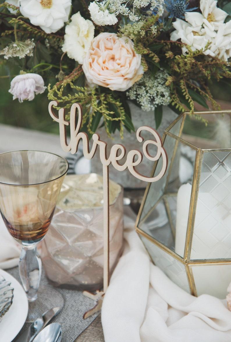 Astonishing Wooden Table Numbers Wedding Centerpieces Fall Wedding Decor Winter Wedding Decor Download Free Architecture Designs Remcamadebymaigaardcom