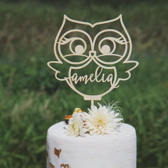 Incredible Owl Cake Topper Babys First Birthday First Birthday Etsy Funny Birthday Cards Online Amentibdeldamsfinfo