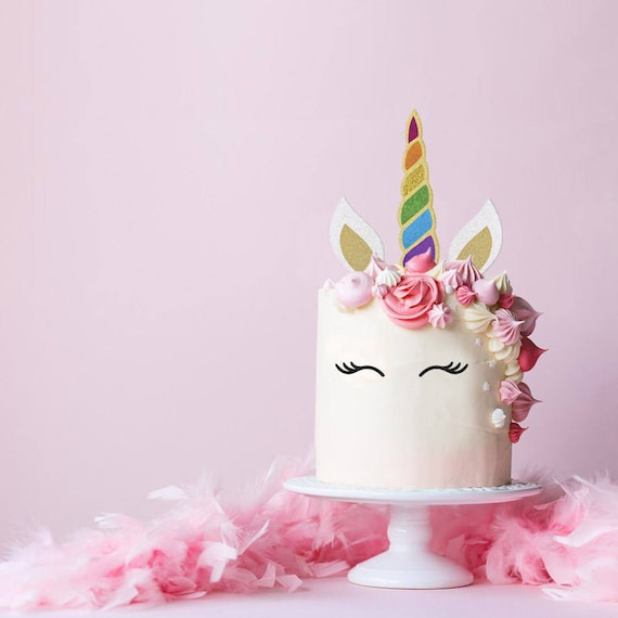 Unicorn Cake Topper Unicorn Birthday Cake Topper Unicorn Etsy