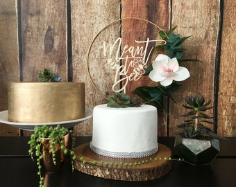 Meant to Bee Wedding Cake Topper, Wedding Cake Topper, Rustic Decor, Cake Topper Wedding, Bridal Shower decor, rustic cake topper