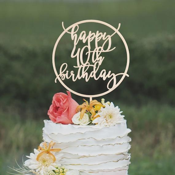 Personalized Birthday Cake Topper for Birthday Cake Topper with Age 30th 40th 50th Etc Birthday Cake Decor Cake Topper Item - CBA920