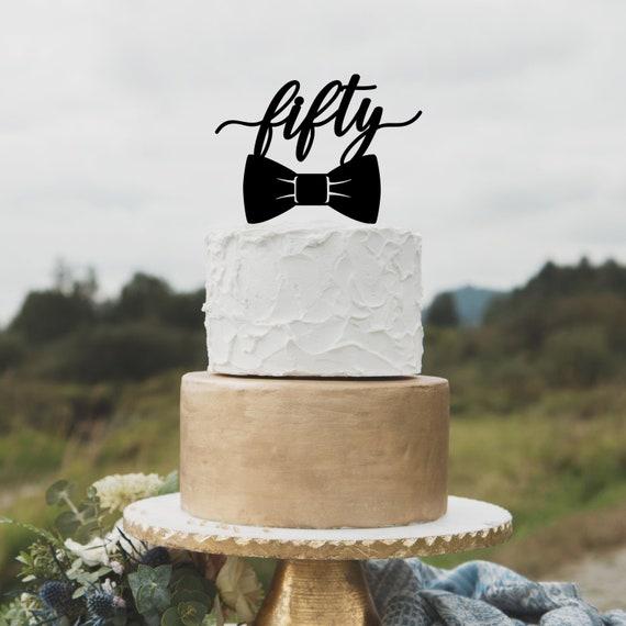 Birthday Cake Topper For Men 50th Happy
