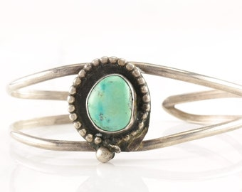 Southwest Sterling Silver Cuff Bracelet Turquoise