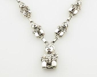 Vintage Silver Lariat Necklace Carol Felley Sterling Storyteller