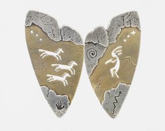 Vintage Sterling Silver Stud Earrings Signed
