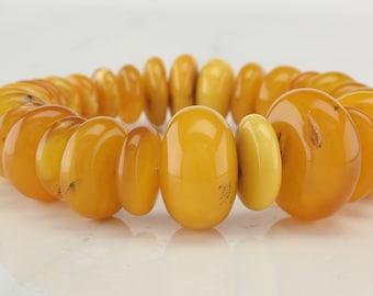 32gm Natural Baltic Amber Butterscotch Bracelet Yellow Orange