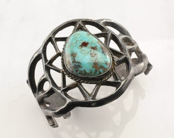 Sterling Silver Cuff Bracelet Sand Cast